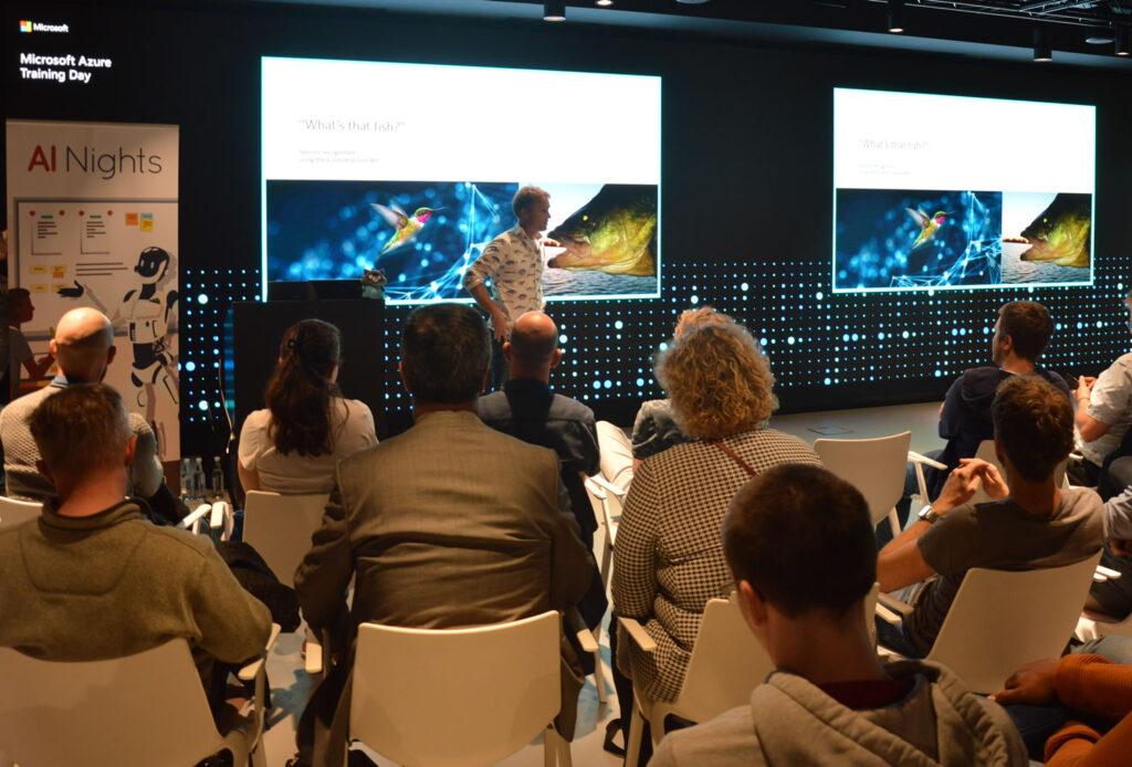 Beeldherkenning vissen Microsoft Global AI presentatie Jorrit Venema VAART software
